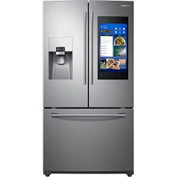Samsung RF265BEAESR 24 cu. ft. Capacity 3 -Door French Door Refrigerator with Family Hub0153  ...