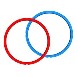 Instant Pot Accessories Silicone Sealing Rings 2pcs for Instant Pot Accessories 5/6Qt(Red&Bl ...
