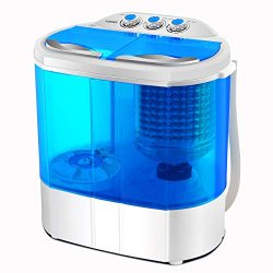 Portable Washing Machine, Spin Dryer-Compact Twin Tub Durable Design 9.9lbs Mini Washer to Wash  ...
