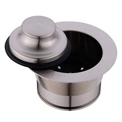 Kitchen Sink Flange kit for Disposal with EZ-Mount (Full-Brass), Brushed Nickel by SINKINGDOM