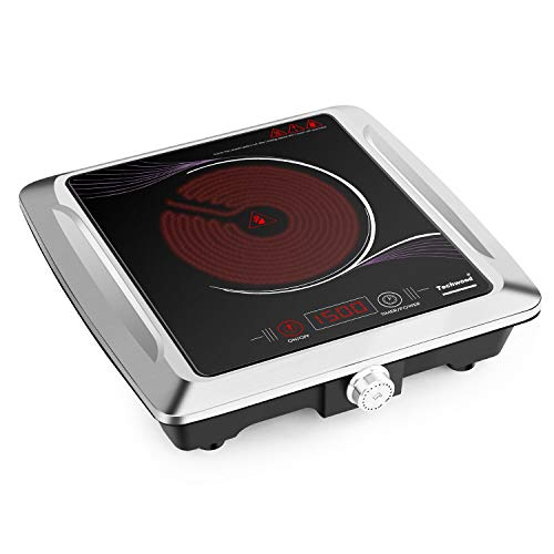 Techwood Portable Single Burner – Infrared Cooktop – Electric Ceramic Hot Plate ES-3105