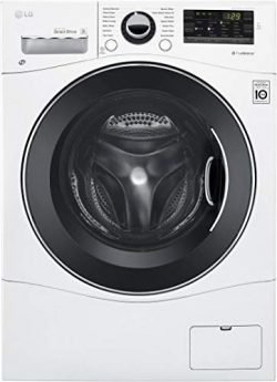 LG WM3488HW 24″ Washer/Dryer Combo with 2.3 cu. ft. Capacity, Stainless Steel Drum in Whit ...