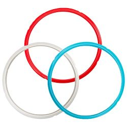 """Houseables Pressure Cooker Sealing Ring, for 6qt and 5qt Instant Pot, Diameter 9.5"""", 3 Pk, Silic ..."""