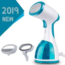 Steamer for Clothes -1000W Portable Powerful Handheld Garment Steamer with 260ml High Capacity,  ...