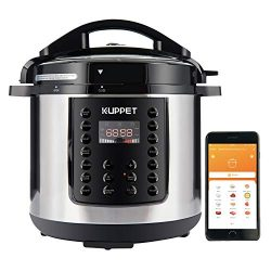 KUPPET MultiPot 10-IN-1 Smart WiFi Multi use Electric Pressure cooker, 6 Qt Programmable Multi C ...