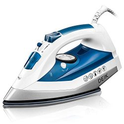Deik Steam Iron, Iron with Nanoceramic Soleplate, Variable Temperature and Steam Setting Iron, A ...