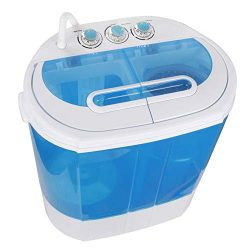 SUPER DEAL Portable Washing Machine, Mini Twin Tub Washing Machine w/Washer&Spinner, Gravity ...