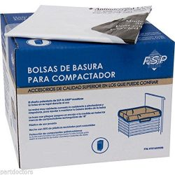 NEW 60 Pack Whirlpool 15 Inch Plastic Trash Compactor Bags W10165294RB 4318922 ,-WH#G4832 TYG434 ...