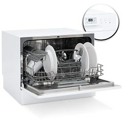 Best Choice Products Small Spaces Kitchen Countertop Portable Dishwasher w/ 6 Wash Cycles and Pr ...