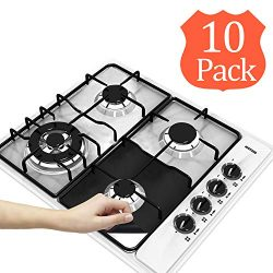 10-Pack Reusable Gas Stove Burner Covers, Wehome Non-stick Stovetop Burner Liners Gas Range Prot ...