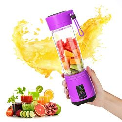 SUNAVO BL-09 Portable Blender Mini Travel Juice Cup,USB Rechargeable Blender Shakes and Smoothie ...