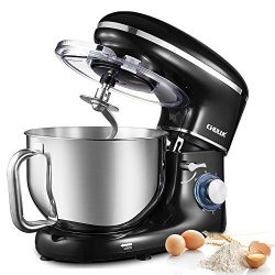 CHULUX Electric Stand Mixer, 660W Tilt-Head Kitchen Food Mixing Machine, 6.5 QT Spout Stainless  ...