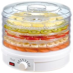 Rosewill Countertop Portable Electric Food Fruit Dehydrator Machine with Adjustable Thermostat,  ...
