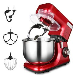 LASANTEC 550W Stand Mixer LST-55 8-Speed 5.5L Double Shaft Stepless Automatic Tilt-Head Electric ...