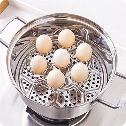 Elaco 2Pcs Electric Pressure Cooker Steam Rack Egg Vegetable Steam Rack Stand Basket (B)