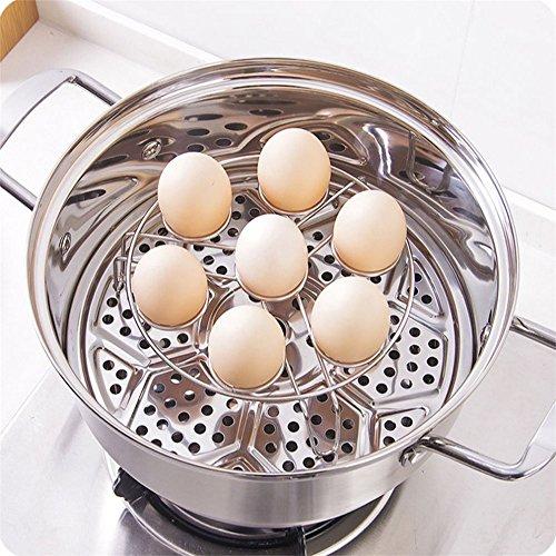 Elaco 2Pcs Electric Pressure Cooker Steam Rack Egg Vegetable Steam Rack Stand Basket (B)