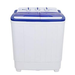 ZOKOP Portable Washing Machine,16 lbs Compact Twin Tub Washer and Spin Dryer for Apartment, Dorm ...