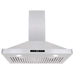 Cosmo 63175S 30-in Wall-Mount Range Hood 760-CFM with Ducted / Ductless Convertible Duct, Ceilin ...