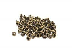 100 X 3Mm Silver Eyelets For Clothing And Leather Crafts – Grommets For Adding Ribbons, La ...