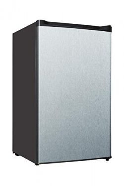Midea WHS-109FSS1 Compact Single Reversible Door Upright Freezer, 3.0 Cubic Feet, Stainless Steel