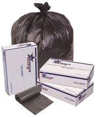 RENOWN GIDDS-2478857 Renown Trash Can Liners, Black, 43 x 48, 22 Mic, 25 Liners Per Roll, 6 Roll ...