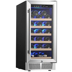 "Wine Cooler, Built-in Wine Cooler, AMZCHEF 15"" Wine Refrigerator, 31 Bottle, Freestanding, ..."