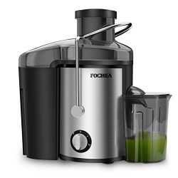 Juice Extractor, FOCHEA 400W Stainless Steel Centrifugal Juicer with 65MM Wide Mouth, 3 Speed Se ...
