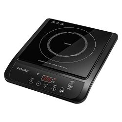 OMORC Induction Cooktop, 1800W Portable Electric Induction Cooker Countertop Burner with 10 Powe ...