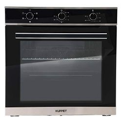 KUPPET 24″ Electric Single Wall Oven with 5 Functions, Tempered Glass, Push Button Control ...