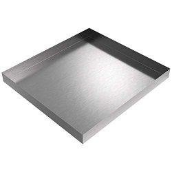 27″ x 25″ Compact Washing Machine Drip Pan (Stainless Steel)