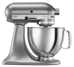 KitchenAid KSM150PSCU Artisan Series 5-Qt. Stand Mixer with Pouring Shield – Contour Silver