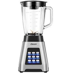 Decen Blender, Smoothie Blender 1000W for Ice Crushing with 5-Speed (24000 r/min) and 4-Programs ...