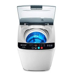 OKVAC Full-Automatic Washing Machine, Compact Laundry Washer, 8lbs Top Load Washer&Spin,8 Pr ...