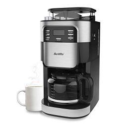 Barsetto Grind and Brew Automatic Coffee Maker with Digital Programmalbe Drip Coffee Machine,10- ...