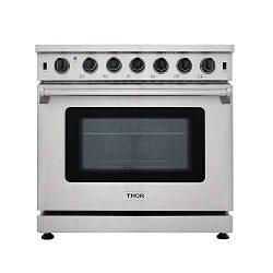 New Arrival 36 Inch Gas Range 6 Burners Cooktop 6.0 cu.ft Oven Thor Kitchen LRG3601U