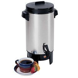 West Bend 58002 Highly Polished Aluminum Commercial Coffee Urn Features Automatic Temperature Co ...
