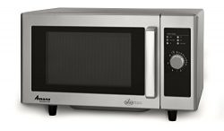 Amana RMS10DS Light-Duty Commercial Microwave Oven with Dial Timer, Stainless Steel, 120-Volts,  ...