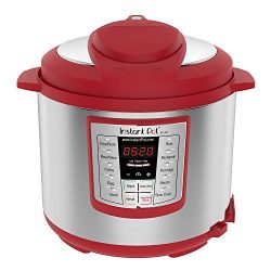 Instant Pot Lux 6 Qt Red 6-in-1 Muti-Use Programmable Pressure Cooker, Slow Cooker, Rice Cooker, ...