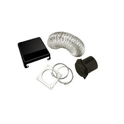 Westland VID403AB Deluxe Dryer Vent Kit (Black Vent Cover)