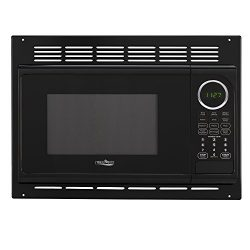 RV Microwave | .9 Cubic Ft Black Microwave with Trim Kit | 900 Watt (RPM-1-BLK)