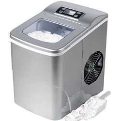 Portable Automatic Ice Maker Machine with Self-clean Function for Countertop, 9 Ice Cubes Ready  ...
