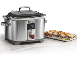 Wolf Gourmet WGSC100S Programmable Multi Function Cooker with Temperature Probe – Slow Coo ...