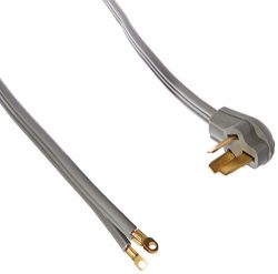 Certified Appliance Accessories 3-Wire Closed-Eyelet 50-Amp Range Cord, 10ft