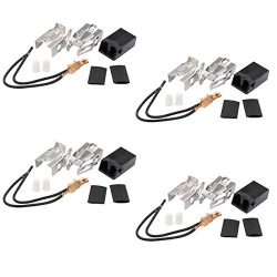 ApplianPar 4 Pack 330031 Range Top Burner Receptacle Kit for Whirlpool Kenmore Sears Roper WB17X ...