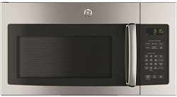 GE JVM3162RJSS 30″ 120 Volts 1.6 cu. ft. Capacity Over the Range Microwave with Convertibl ...
