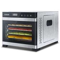 COSORI Food Dehydrator Machine, Stainless Steel Digital Food Dryer with Recipe Book,Countdown Ti ...