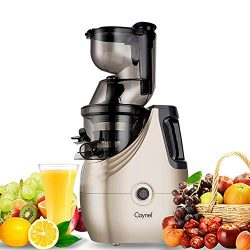 Caynel Whole Slow Masticating Cold Press Juicer Extractor Quiet Durable Motor, 3″ Big Mout ...
