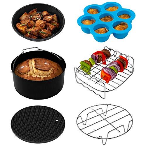 COSORI Air Fryer Accessories XL (C137-6AC), Set of 6 Fit all 3.7, 4.2, 5.3, 5.8QT Air Fryer, PDA ...