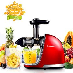 Slow Masticating Juicer,AMZCHEF Juicer Extractor Professional Machine with Quiet Motor/Reverse F ...