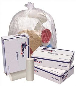 RENOWN GIDDS-2478863 Renown Trash Can Liners, Natural, 38 x 60, 17 Mic, 25 Liners Per Roll, 8 Ro ...